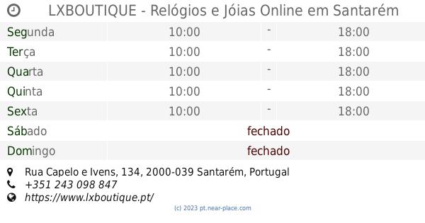 7b941d82a94 🕗 LXBOUTIQUE - Relógios e Jóias Online Santarém horário